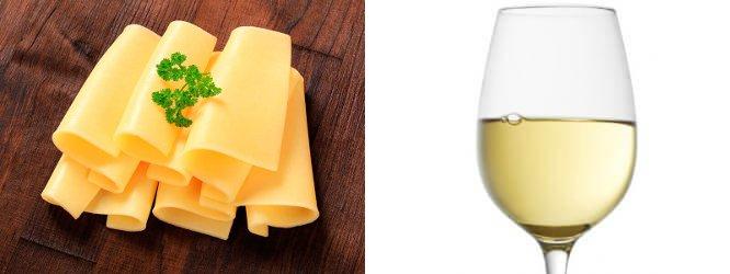Gouda plátky; Pinot Gris, Alsace AOC